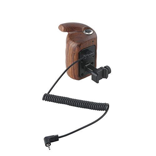 NICEYRIG 木製ハンドグリップ カメラケージハンドル NATOクランプ付き 左手用 ウッドグリップ RECトリガー コントロールボタン付き HDMIケーブル付き DSLRカメラケージ用 Fujifilm/富士X-T4/X-T3/X-T2対応 Camera Wooden Handle SLR装備 撮影器材アクセアリ-420