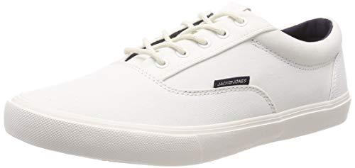 JACK & JONES Herren JFWVISION Classic Mixed Sneaker, Weiß (Bright White Bright White), 43 EU