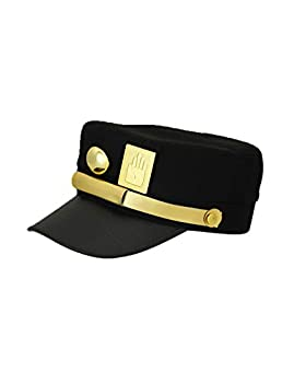 WOSHOW JoJo s Bizarre Adventure Kujo Jotaro Cosplay hat Peaked Cap Black