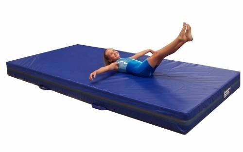 Team Sports Gymnastics 4' Skill Throw Landing Mats 4'x8', Blue Vinyl and 1.8 Density Poly-Foam