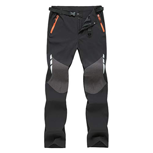 Haobing Men's Breathable Quick Dry Hiking Trousers Outdoor Walking Climbing Pants with Belt