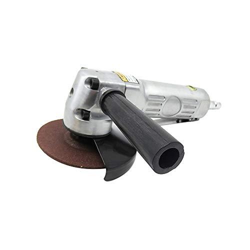 Carrfan Autohaakse slijper, pneumatisch gereedschap, 4 inch met schijf, gepolijst, stuk polijsten/snijden 11000 omw/min sterk glad licht voor auto-motor-scooter