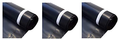MP Global Products MB006300100 Block Roll of 6 mil Moisture Barrier Polyethylene Underlay Film, 100 sq. ft, Black (3)