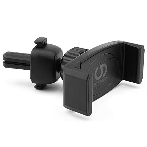 grooveclip Die hochwertige Lüftungshalterung: Original AIR Slider - Handyhalterung Auto Lüftung Handy Halterung Handy Autohalterung Smartphone Halterung KFZ Halterung Handy Auto Handyhalterung