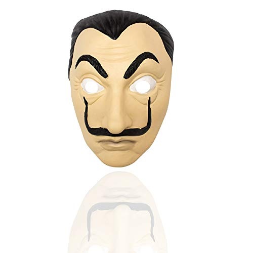 Leegicst Salvador Dali - Mscara facial realista para fiestas de Halloween, festivales de fiesta para Halloween, fiesta de baile (mscara A)