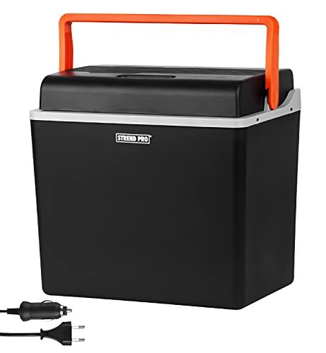 Nevera eléctrica Strend Pro para el coche y el camping, 30 L, 12 V/230 V, función de refrigeración y calor, compresor de nevera con modo ecológico, ideal para camping y viaje, silenciosa y ligera