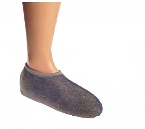 Wowerat Lot/2 paires Lot Bottes Chaussettes Chaussettes (sogenannte crin), spécial Objet, Super chaud, allemande Ware 41 à 42, gris