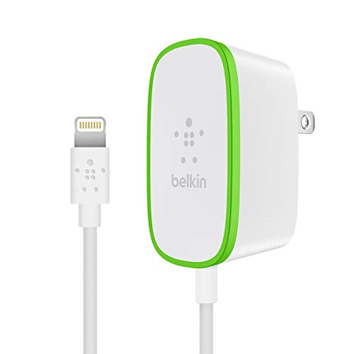 Belkin Boost Up Home Charger with 6-Foot Lightning to USB Charging Cable, White (2.4 Amps / 12 Watts) - F8J204tt06-WHT
