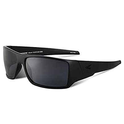 KastKing Iditarod Polarized Sport Sunglasses for Men and Women, Matte Blackout Frame, Smoke Lens