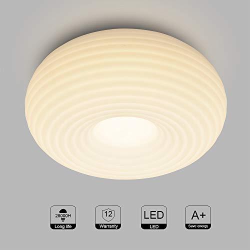 Artpad melkwit 24W cirkelringen plafondlamp, plafondmontage moderne ronde acryl kroonluchter voor slaapkamer, trap, badkamer-3 kleurtemperatuur dimmen