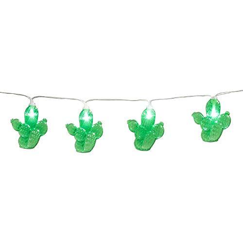 Boland 54425 - LED-Lichterkette Kaktus, Länge 140 cm, Batterietyp 2xAA, Kakteen, Mexiko, Dekoration, Karneval, Mottoparty