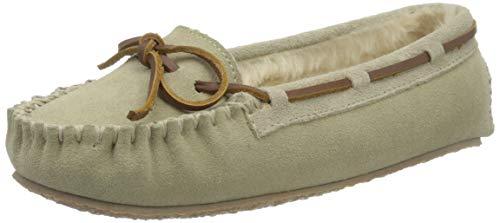 Minnetonka Women's Cally Moccasin Slippers 11 M Stone