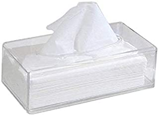 Beauenty Acrylic Clear Tissue Box Cover Rectangular Napkin Car Office Paper holder Case