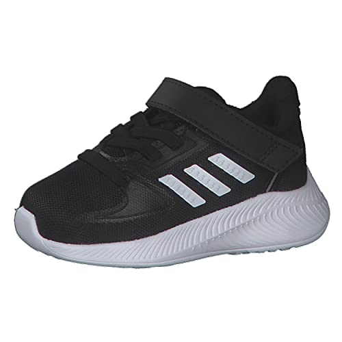 adidas Runfalcon 2.0, Road Running Shoe, Core Black/Cloud White/Silver Metallic, 27 EU