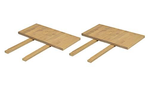 Naturholzmöbel Seidel 2er Set Ansteckplatten 40x80cm Farbton Honig hell für Esstisch Rio Bonito u. Rio Santo 120x80, 140x80, 150x80 und 160x80cm, Pinie Massivholz geölt und gewachst