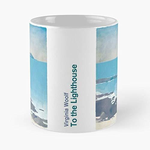 to The Lighthouse, Virginia Woolf Literary Art for Book Lovers - La migliore tazza da caffè in ceramica di marmo bianco da 11 Oz