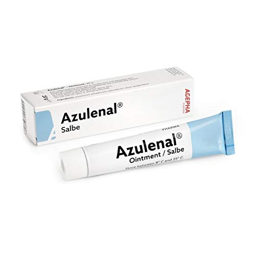 Azulenal Ointment with Guaiazulene, Multipurpose Cream for Rashes, Itching, Cuts, Burns, Wound...