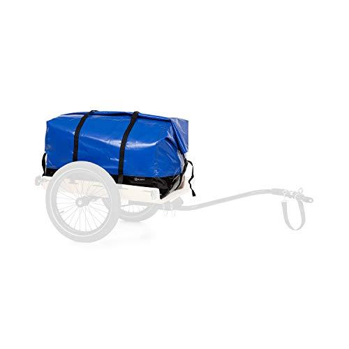 Klarfit Companion - Travel Bag Transporttasche,Zubehör,Volumen: 120 Liter,wasserdicht,Roll-Top,Tragegriff, Befestigungsklettbänder,schwarz/blau