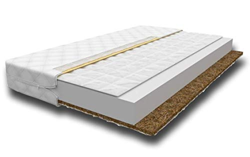 Happy Babies - Single Foam Mattress + Buckwheat + Coconut Mat, for your baby, child, teenager. Covered with moisture-resistant material. 7 cm thick (80 x 160 cm)