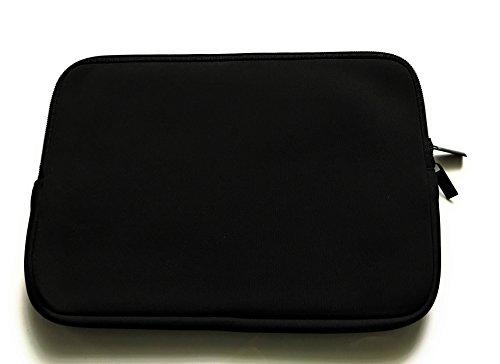 Reissverschluss Tablet Tasche schwarz geeignet für TrekStor SurfTab duo W1 - Schutz Hülle Hülle Cover Etui Schutz Hülle Hülle Cover Etui