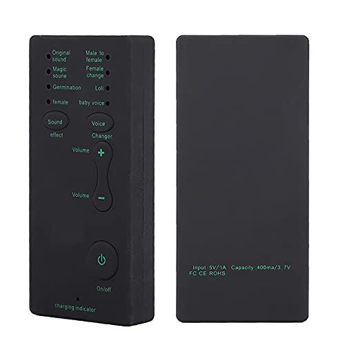 Qinlorgon Dispositivo di Cambio Voce Scheda Audio Professionale dal Vivo, Mini Scheda di Trasmissione Audio Portatile Mini Voice Changer per PC Portatile (Versione Inglese)