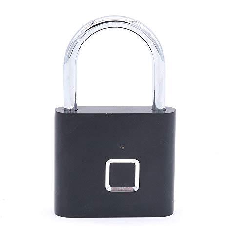 NUZAMAS Fingerabdruck-Vorhängeschloss, intelligentes Keyless-Sicherheitsschloss, Fingererkennung, intelligentes biometrisches Diebstahlschutzschloss, Gepäckkoffer, Schließfach im Fitnessstudio