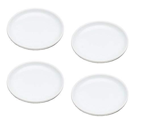 4er-Set – Einfache kleine runde weiße Porzellan-Teller für Tapas, Vorspeisen, Sushi, Gewürzsauce, Dessert, Nüsse, Schokolade, Käse, rund, Teller 10,2 cm breit