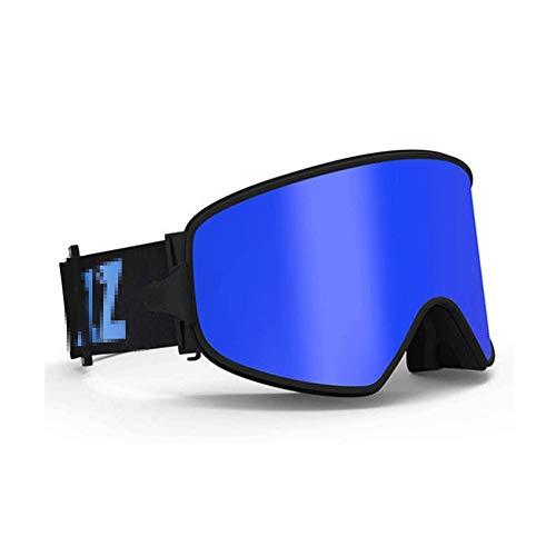 WCJ Skibrille Ski Snowboard Snow Goggles Entwurf for Männer Frauen mit sphärischem abnehmbarem Objektiv UV-Schutz Anti-Fog (Color : E)