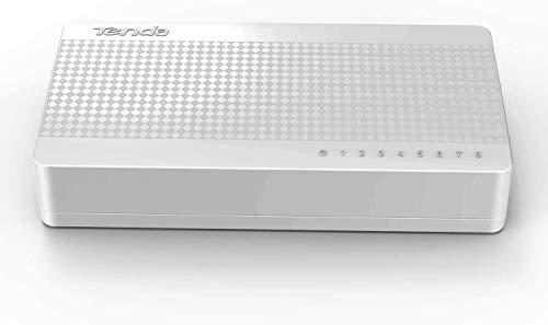 Tenda S108 8 Port Desktop Switch (8 10 / 100 MBit/s RJ-45 Ports, Autonegation, Auto MDI/MDIX, IEEE 802x3x Flusskontrolle, Non-Blocking Architektur)