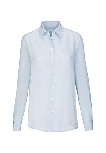 Seidensticker Damen Fashion 1/1 Bluse, Hellblau (12), 34