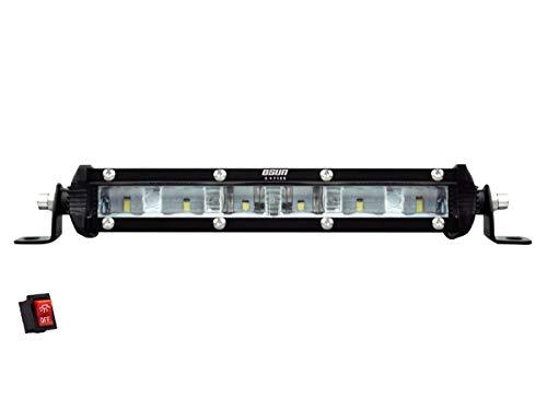 BARRA LED DE 7″ ALTA INTENSIDAD 30W LUZ CONCENTRADA 6 LED«S