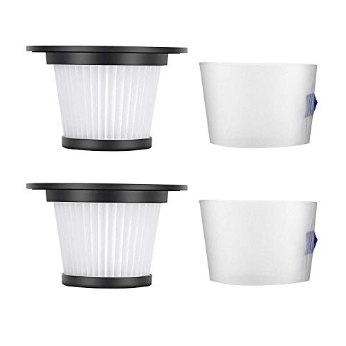 Find Discount MOOSOO HEPA Filter and Strainer Screen, 2 Pack, for K17 Cordless Vacuum A