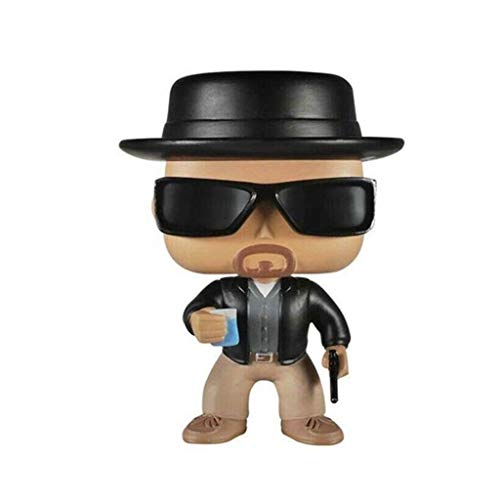 Figura de acción de Breaking Bad Walter White Heisenberg Pop Vinilo Serie de TV Alrededor muñecas Multicolor en Caja 3.93inch