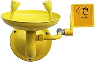 NEWTRY 洗眼器 シャワーヘッド アイウォッシュ 洗眼器 洗眼装置 洗眼場 洗眼台 目を洗う用 壁掛け式 緊急用アイウォッシュ 二重口 ダブルアイ 304#ステンレス製 化学工業用 工場用 実験室用 ラブ用