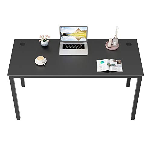 DESIGNA Computer Desk 55 inches Study Writing PC Laptop Table Workstation with Cable...