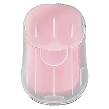 A/A LI Q P R - Feuilles de savon jetables pour le lavage des mains - Mini savon de toilette pour le bain, le voyage, le camping, la randonnée