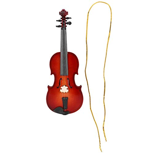 SALUTUYA Musikinstrument Modell, dekorative Verzierung, Mini Violine Modell, Holz Miniatur Violine, Musik Ornament, für Home Decoration als Geschenk für Musiker(14cm)