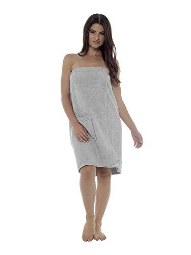 CityComfort Toalla para Mujer 100% algodón paño de SPA Suave y Muy Absorbente Sarong de baño Playa (M/L, Gris)