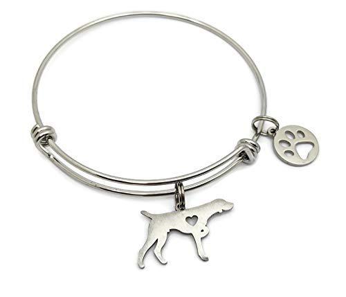 German Shorthaired Pointer Dog Bracelet: Dog Mom Bangle