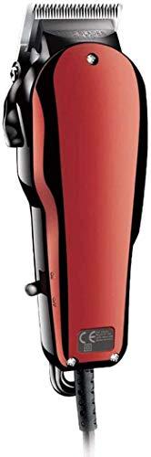 Sooiy Mains Hair Power Clipper pour Hommes Professional Retro Chauve Fader en Acier au Carbone Lame 0.1-3mm Tondeuse réglable Barbe Barbier Machine de découpe Styling,Rouge
