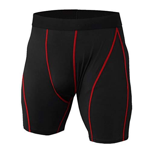 Celucke Kompressionsshorts Herren Trainingsshorts Laufshorts Lauftights Fitness Running Gym Sport Tights Kurze Sporthose