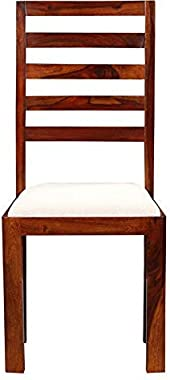 Mangalam Furniture Sheesham Wood Dining Chairs | Wooden Dining Chair with Cushion | Dinning Room Chair | Set of 2 | Honey Bro