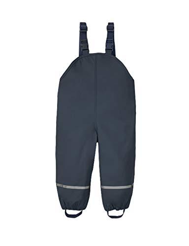 PIZOFF Unisex Kinder Regenlatzhose, Wind- und wasserdichte Textilfutter Matschhose mit Inner Fleece gefüttert Regenhose 01130140XNavy+S