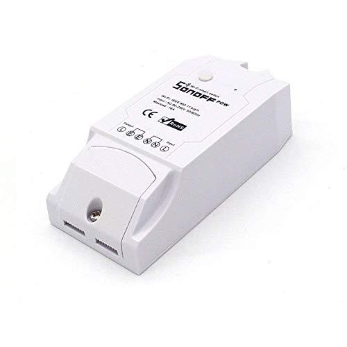 RPS Sonoff Pow Interruptor de Control Remoto Inalámbrico Monitor de Alimentación Remoto WiFi Inteligente (Mida de Consumo de Energía, Potencia, Voltaje, Corriente) para Alexa, Google Nest