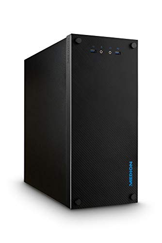 MEDION S72 CARBON P660086 5i Desktop PC (Intel Core i5-10400F, 512 GB SDD, 8 GB di RAM, GT1030 2GB, Windows 10), nero