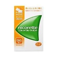 【指定第2類医薬品】ニコレットフルーティミント 96個 ×4 ※セルフメディケーション税制対象商品