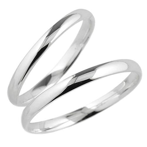 (リュイール)Luire プラチナ PT900 ペアリング 結婚指輪 マリッジリング 甲丸 地金 指輪 2本セット 華奢 シンプル リング