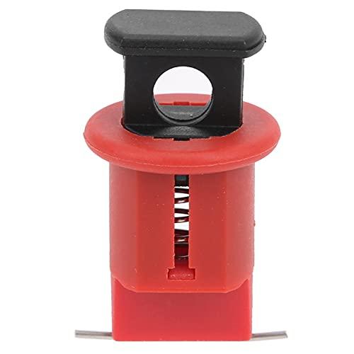 Bloqueo de disyuntor eléctrico Interruptor de botón de presión de aire de nailon y acero inoxidable, bloquea prácticamente todos los disyuntores en miniatura de forma universal