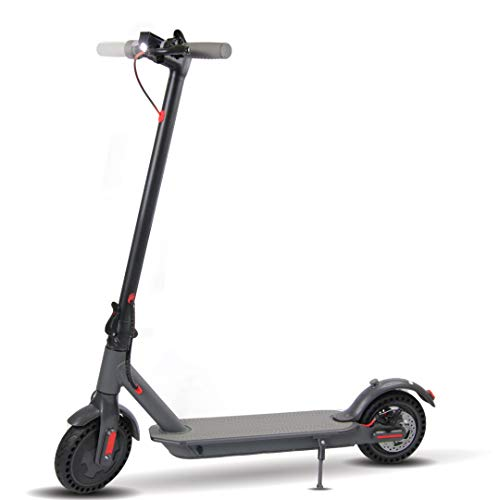 J-ion, New Innovative Electric Scooter, With the New Airless Tire Technology and Equipped With a Powerful 300W Motor, Dual Speeds up to 15.8 MPH, and 16 miles Range Battery, Portable Folding E-Scooter