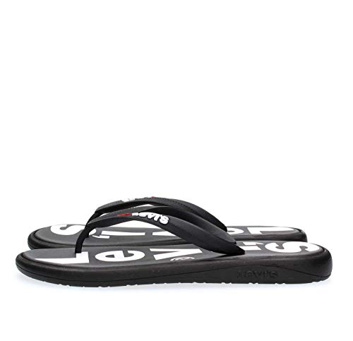 Levis Footwear and Accessories Herren Delamar L Zehentrenner, Schwarz (Regular Black 59), S
